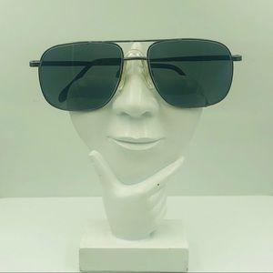 Sergio Tacchini Gunmetal Aviator Sunglasses Frames